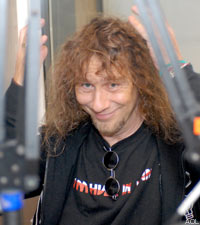 Anvil in the Noisecreep Podcast Studio