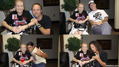Metallica meet with 85 year old fan dedicate live track to her became something of a viral sensation when the st petersburg times ran a piece on the 85 year old who claims shes one of metallicas oldest fans m4hsunfo