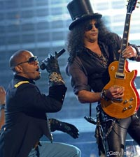 Slash and Jamie Foxx
